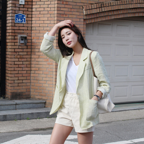 Many linen jacket ; 3 color