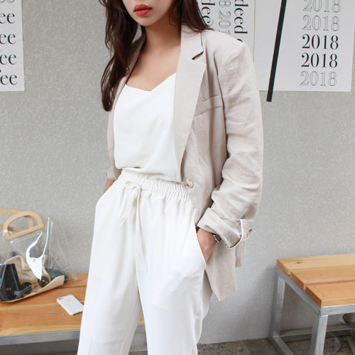 Daily linen jacket ; 3 color