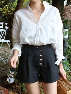 Do linen short pants ; 2 color