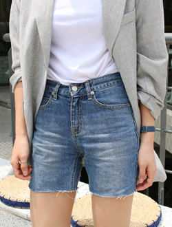 Signal short denim ; one color   BEST ♥