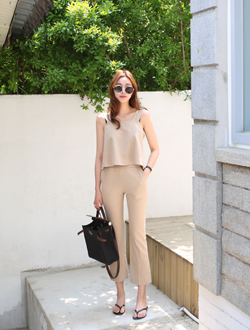 Linen boot cut pants ; 3 color   BEST ♥