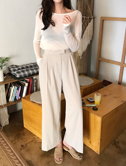 Zoide wide pants; 3 color   BEST ♥