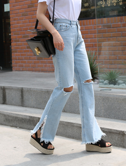 Sunny boot cut denim ; 2 color
