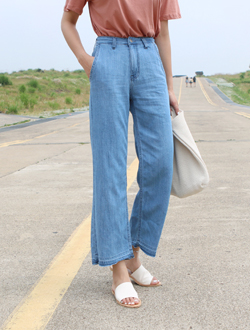 Once wide denim ; 2 color