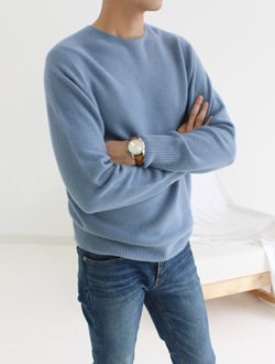 (M) Cashmere knit ; 5 color