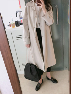Single trench coat ;2 color